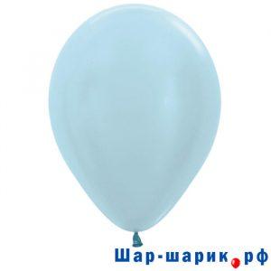 Шар голубой перламутр (440)