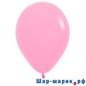 Шар розовый пастель (матовый)