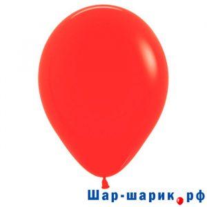 Шар красный пастель (матовый)