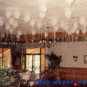 Шары под потолок пастель белые (SP-10)