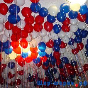 Шары под потолок пастель красные, белые, синие (SP-12)