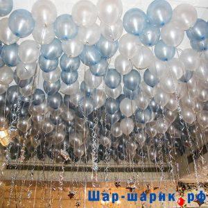 Шары под потолок металлик жемчужные и голубые (SP-13)