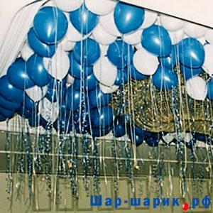 Шары под потолок пастель синие и белые (SP-17)