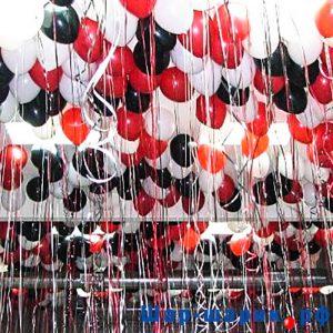 Шары под потолок пастель красные, черные, белые (SP-18)