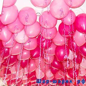 Шары под потолок пастель красные и розовые (SP-19)
