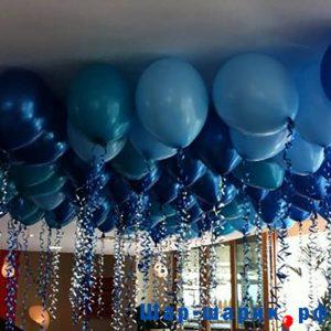 Шары под потолок пастель синие и голубые (SP-23)