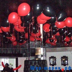 Шары под потолок пастель красные и черные (SP-25)