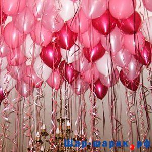 Шары под потолок металлик красный, белый, розовый (SP-3)