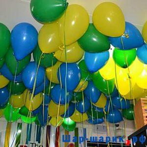 Шары под потолок пастель желтые, зеленые, синие (SP-30)