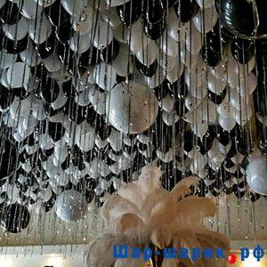 Шары под потолок пастель черные и белые (SP-32)
