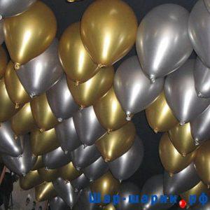 Шары под потолок металлик золотые и серебряные (SP-5)