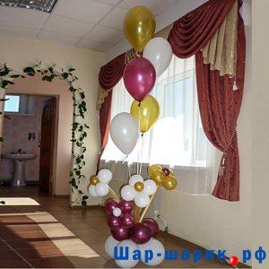 Фонтан из 5 шаров и цветов (FN-6)