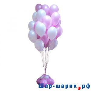 Фонтан из 30 шаров на цветке (FN-34)