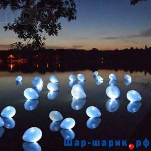 Светящиеся шары с воздухом белые (SVS-6)